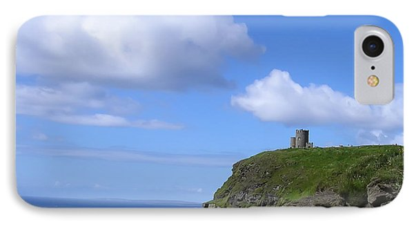 Castle On The Cliffs Of Moher Phone Case by Bill Cannon