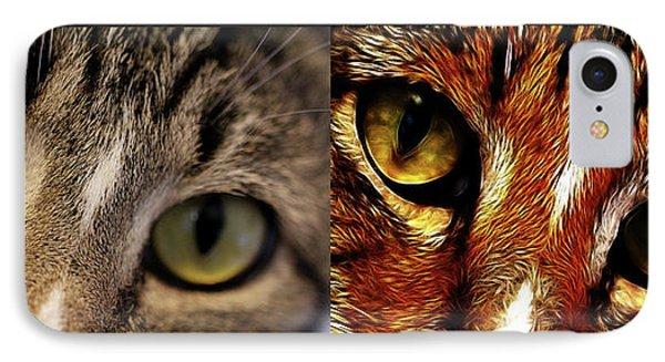 Cat Eyes Phone Case by EricaMaxine  Price