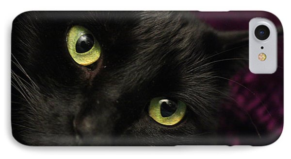 Cat Eyes IPhone Case by Tyra  OBryant