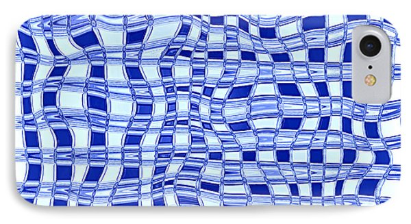 Catch A Wave - Blue Abstract Phone Case by Carol Groenen