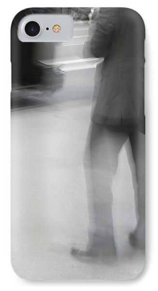 Catching The Bus Bw Phone Case by Karol Livote