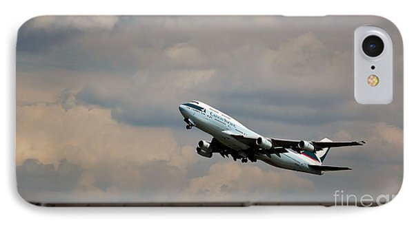 Cathay Pacific B-747-400 IPhone Case by Rene Triay Photography