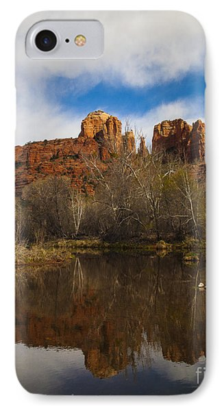 Cathedral Rock Reflections Portrait 2 IPhone Case by Darcy Michaelchuk