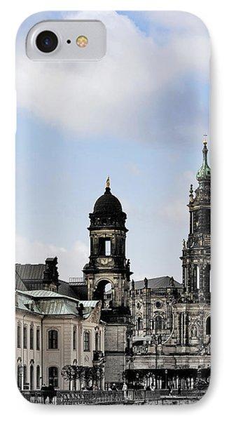 Catholic Church Of The Royal Court - Hofkirche Dresden Phone Case by Christine Till