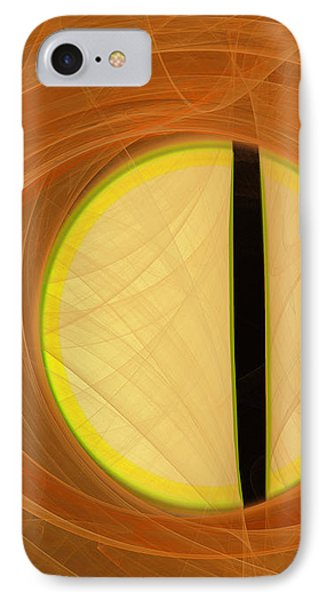 IPhone Case featuring the digital art Cat's Eye by Victoria Harrington