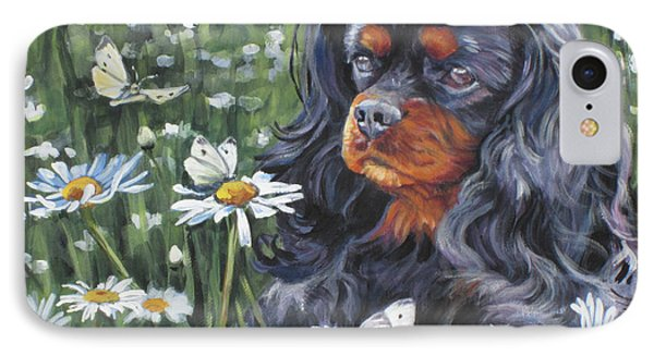 Cavalier King Charles In The Wildflowers IPhone Case by Lee Ann Shepard