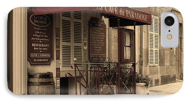 Cave Du Paradoxe Wine Shop In Beaune France Phone Case by Greg Matchick