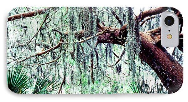Cedar Draped In Spanish Moss Phone Case by Thomas R Fletcher