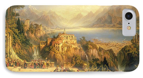 Celebrating The Grape Harvest Lake Orta North Italy Phone Case by John Bell