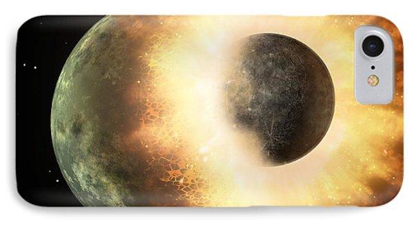 Celestial Impact, Artwork Phone Case by Nasajpl-caltech