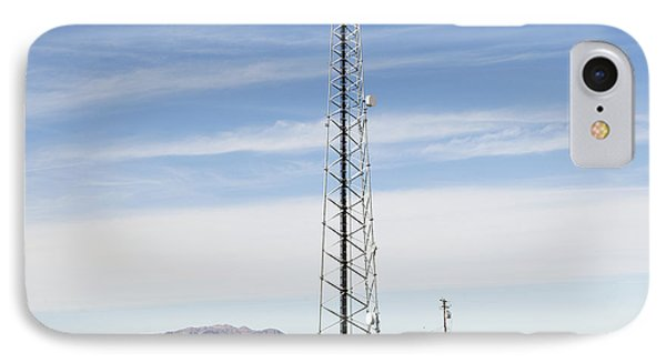 Cellular Phone Tower In Desert Phone Case by Paul Edmondson