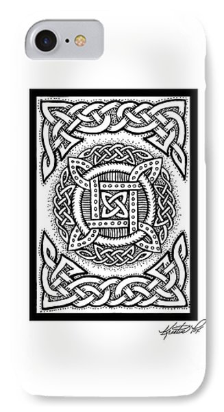 Celtic Four Square Circle IPhone Case by Kristen Fox
