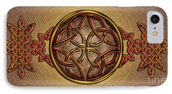 IPhone Case featuring the mixed media Celtic Knotwork Enamel by Kristen Fox