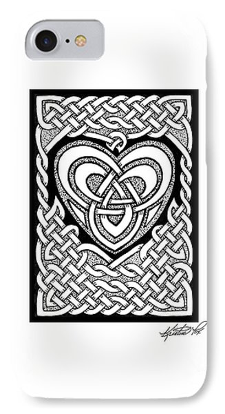 Celtic Knotwork Heart Phone Case by Kristen Fox