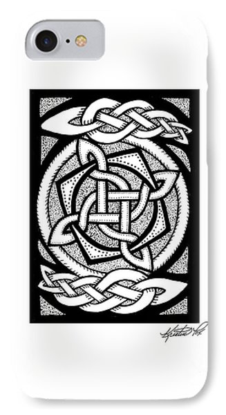 Celtic Knotwork Rotation IPhone Case by Kristen Fox