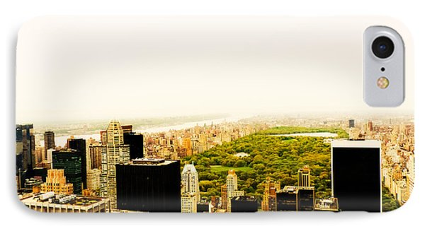 Central Park And The New York City Skyline From Above Phone Case by Vivienne Gucwa