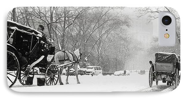 Central Park In Falling Snow Phone Case by Axiom Photographic