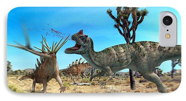 Ceratosaurus And Dacentrurus, Artwork Phone Case by Jose Antonio PeÑas