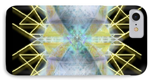 IPhone Case featuring the digital art Chalices From Pi Sphere Goldenray II by Christopher Pringer