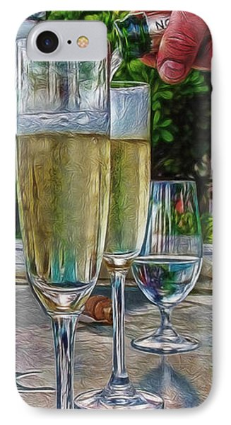 Champagne At The Beach Phone Case by Joan  Minchak