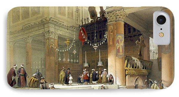 chancel of the church of St. Helena Phone Case by Munir Alawi