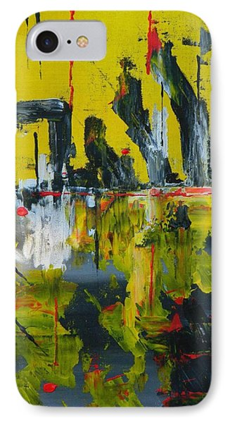 IPhone Case featuring the painting Chaotic Vision by Everette McMahan jr