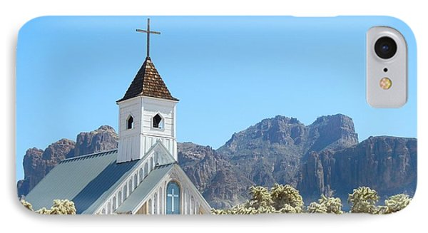 IPhone Case featuring the photograph Chapel In Superstitions by Penny Meyers