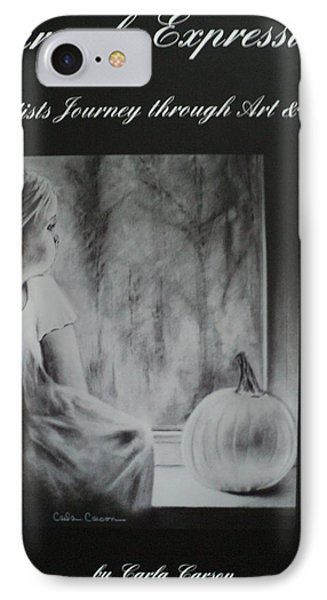 Charcoal Expressions My Poetry And Art Book Phone Case by Carla Carson