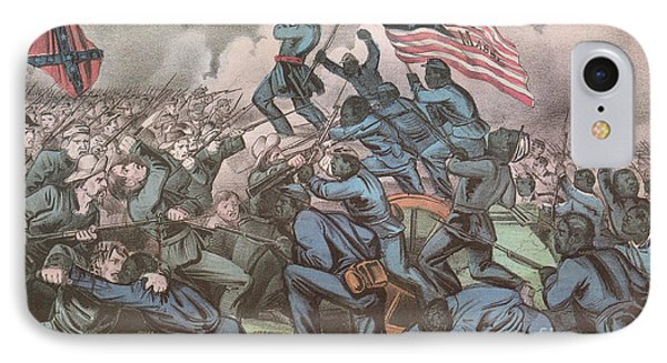 Charge Of The 54th Massachusetts Phone Case by Photo Researchers