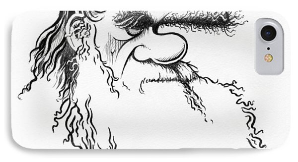Charles Darwin, Caricature Phone Case by Gary Brown