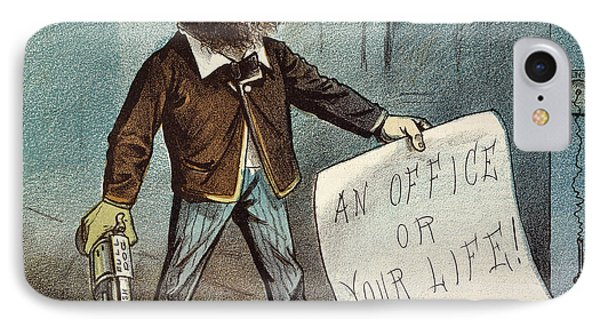 Charles Guiteau Cartoon Phone Case by Granger