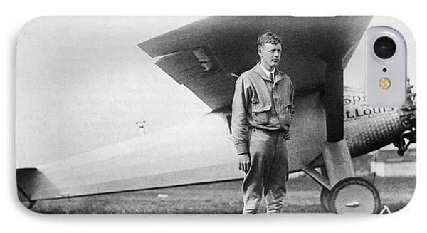 Charles Lindbergh American Aviator Phone Case by Photo Researchers