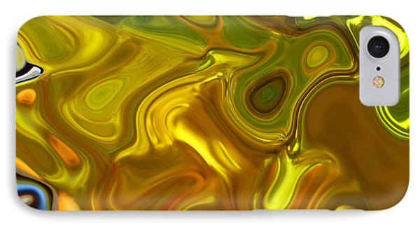 IPhone Case featuring the digital art Chartreuse Series Abstract Xii by Ginny Schmidt