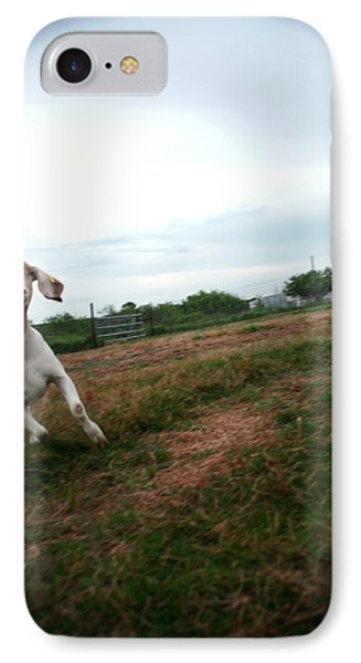 IPhone Case featuring the photograph Chased By A Crazy Goat by Lon Casler Bixby