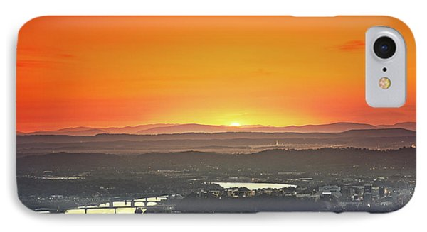 Chattanooga Sunrise Phone Case by Steven Llorca