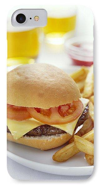 Cheeseburger And Chips Phone Case by David Munns