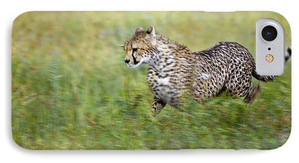 Cheetah Acinonyx Jubatus, Running Phone Case by Carson Ganci