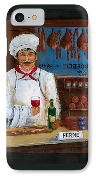 Chef At Days End Phone Case by Marilyn Dunlap