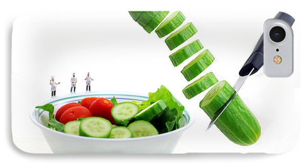 Chefs Making Salad Phone Case by Paul Ge