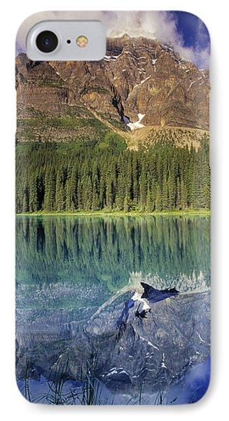 Chephren Lake And Mt. Chephren, Banff Phone Case by Darwin Wiggett