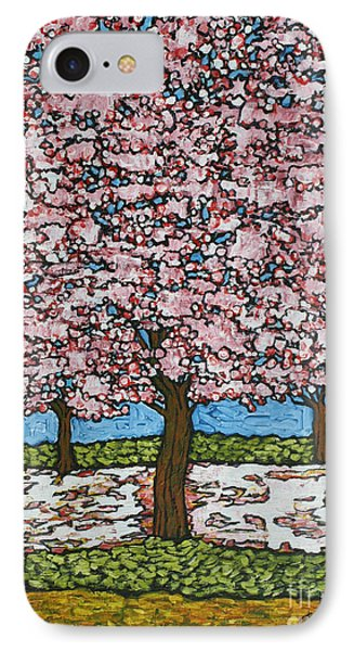 Cherry Blossom Trio Phone Case by Tracy Levesque