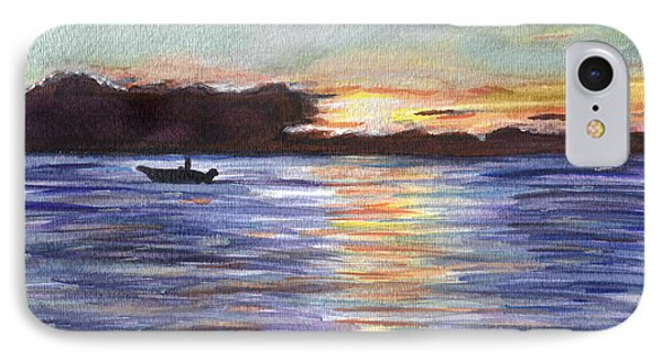 IPhone Case featuring the painting Chesapeake Dusk Boat Ride by Clara Sue Beym
