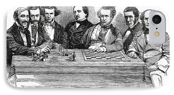 Chess Players, 1855 Phone Case by Granger