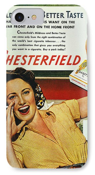 Chesterfield Cigarette Ad Phone Case by Granger