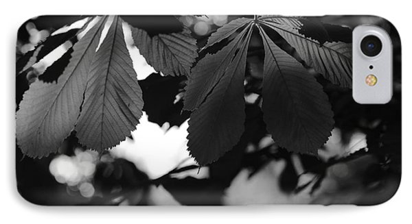 Chestnut Leaves IPhone Case by Dariusz Gudowicz