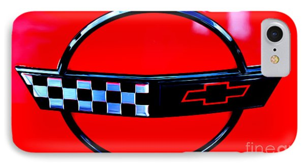 IPhone Case featuring the digital art Chevrolet Corvette by Tony Cooper
