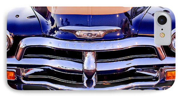 Chevrolet Pickup Truck Grille Emblem Phone Case by Jill Reger