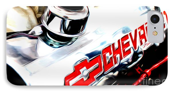 IPhone Case featuring the digital art Chevy Power by Tony Cooper