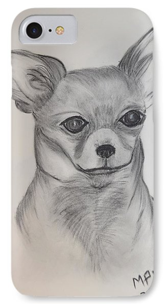 IPhone Case featuring the drawing Chi Chi by Maria Urso