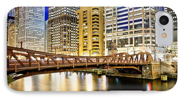 Chicago At Night At Clark Street Bridge Phone Case by Paul Velgos
